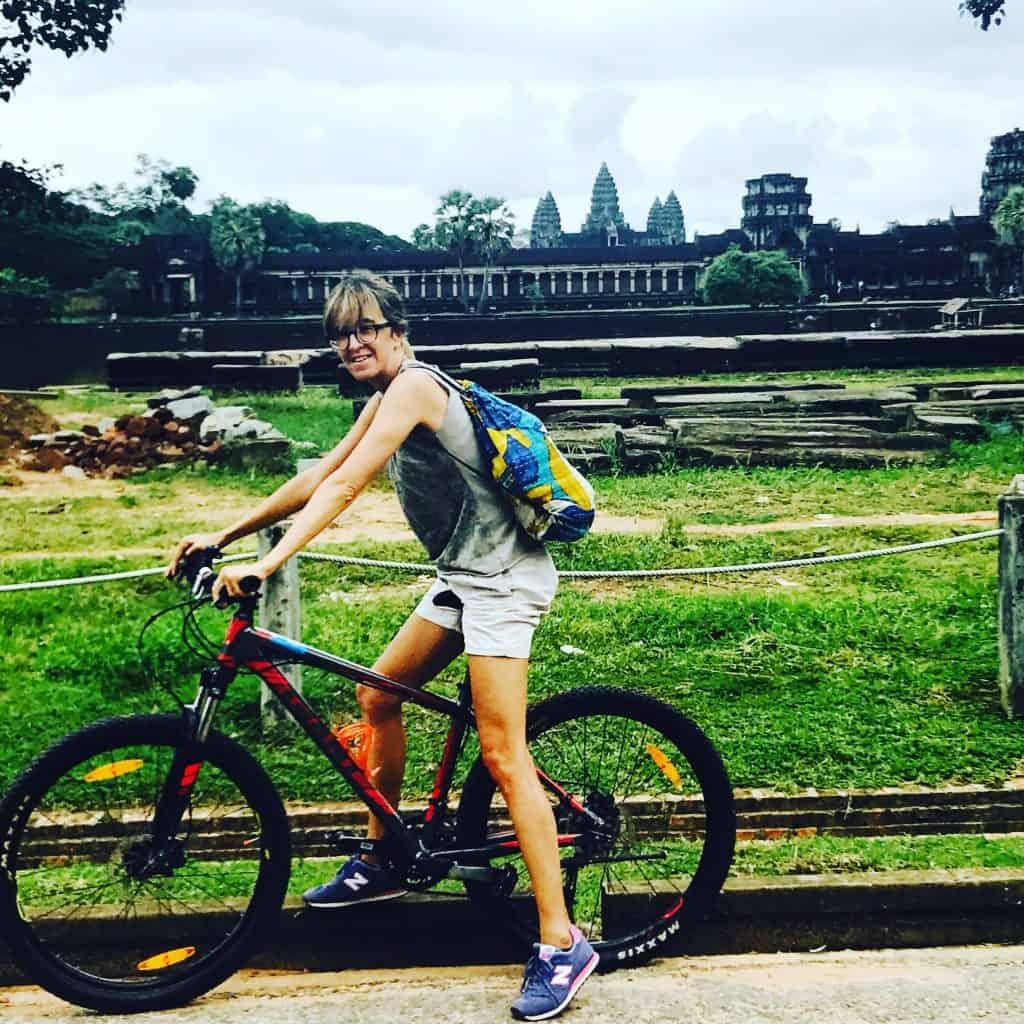 Angkor Wat in bici