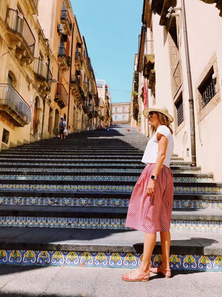 La scalinata di Santa Maria al monte a Caltagirone