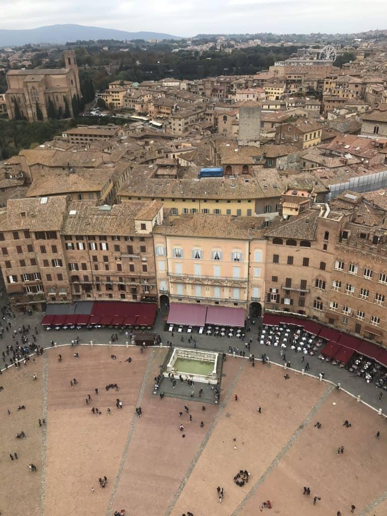 Vista su Siena da Torre del Mangia
