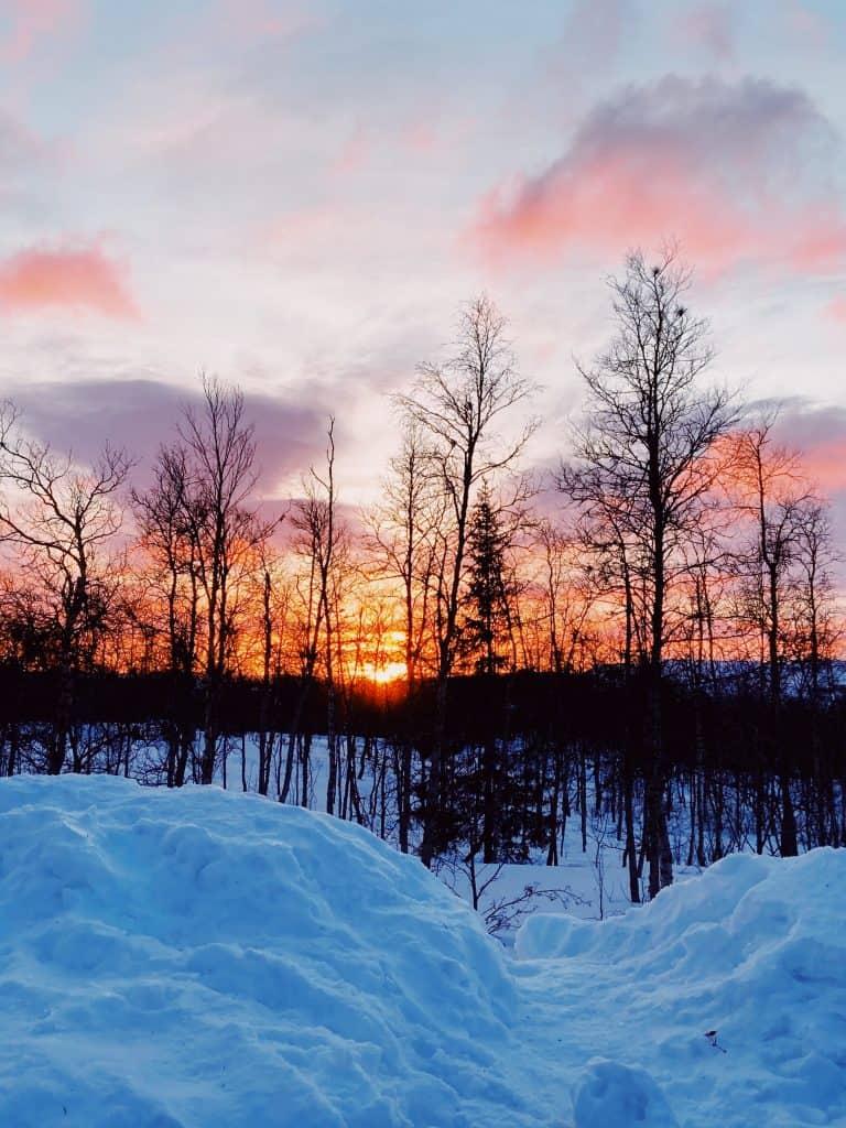 La notte polare in Lapponia