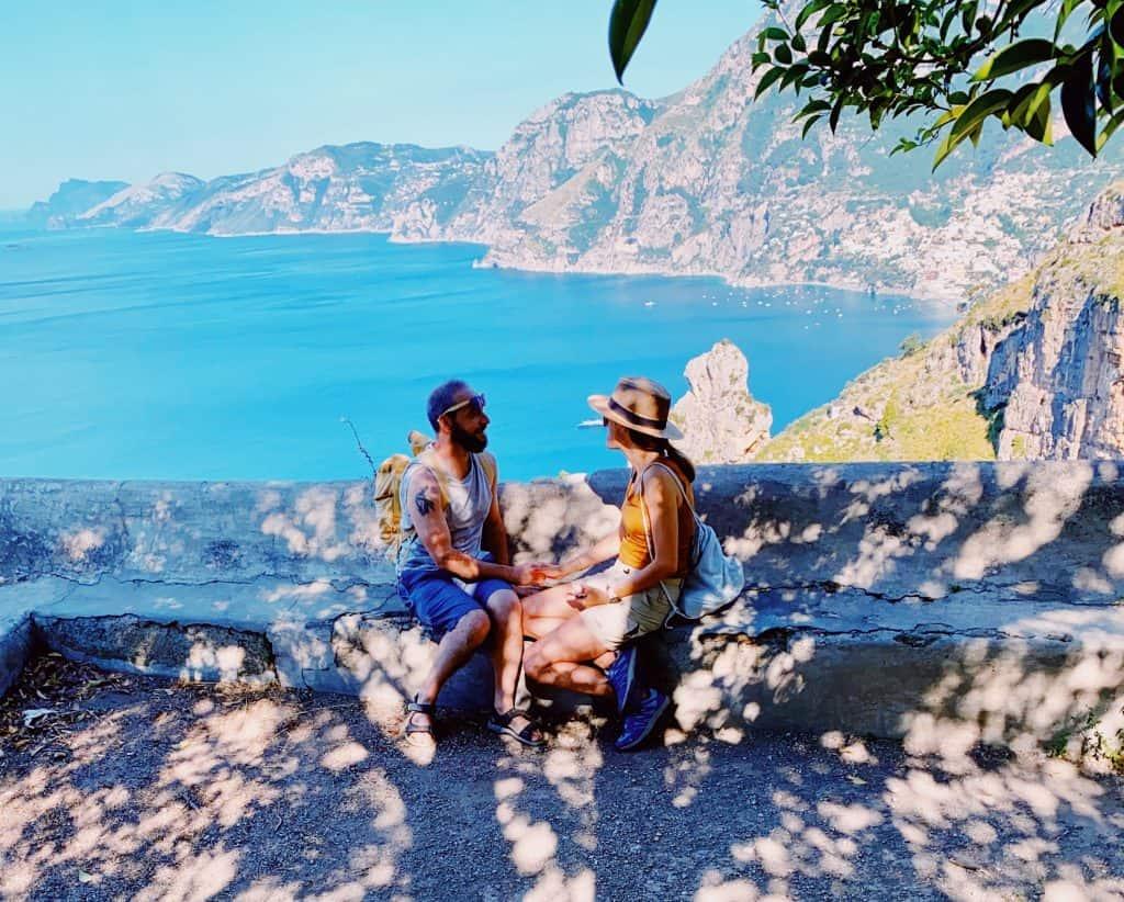 Il panorama dal sentiero degli Dei in Costiera Amalfitana