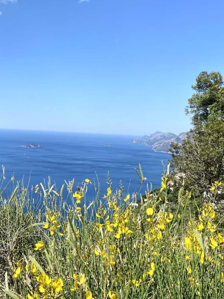 Scorci dal Sentiero degli Dei in Costiera Amalfitana